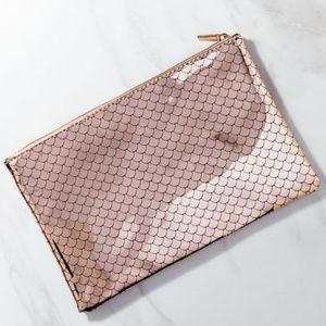 Handbags - 🍍 Rose Gold Metallic Mermaid Make up bag Cosmetic